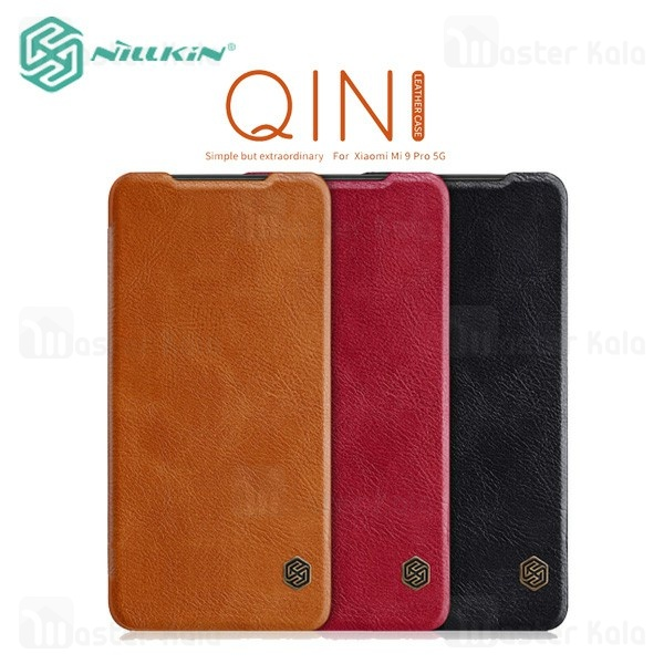 کیف چرمی نیلکین شیائومی Xiaomi Mi 9 Pro Nillkin Qin Leather Case
