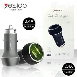 شارژر فندکی یسیدو Yesido Y30 Car Charger توان 2.4 آمپر همراه کابل