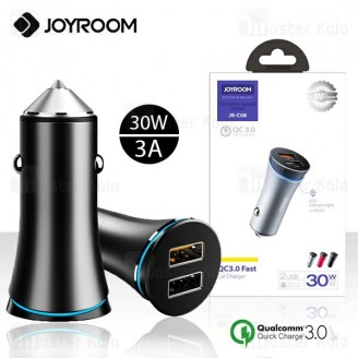 شارژر فندکی فست شارژ جویروم Joyroom JR-C08 Extreme Speed QC3.0 توان 3 آمپر