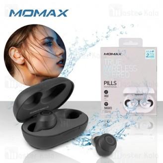 هندزفری بلوتوث دو تایی مومکس Momax BT1 Bluetooth Earbuds به همراه داک شارژ