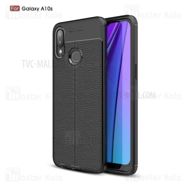 قاب محافظ ژله ای طرح چرم سامسونگ Samsung Galaxy A10s / A107 Auto Focus