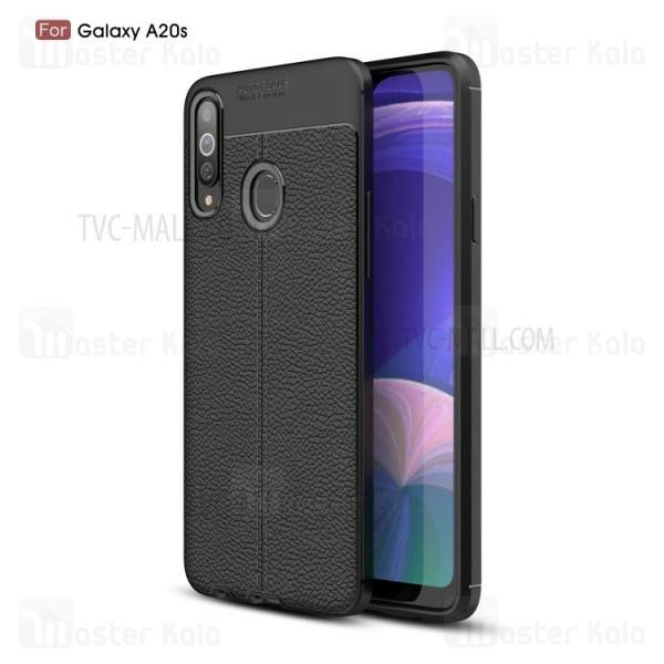 قاب محافظ ژله ای طرح چرم سامسونگ Samsung Galaxy A20s / A207 Auto Focus