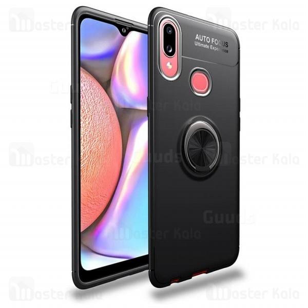 قاب ژله ای طرح چرم انگشتی Samsung Galaxy A10s / A107 AutoFocus Magnetic Ring