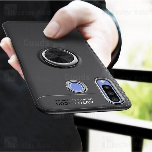 قاب ژله ای طرح چرم انگشتی Samsung Galaxy A20s / A207 Becation A.F Magnetic Ring