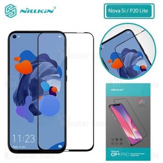 محافظ صفحه شیشه ای تمام صفحه تمام چسب هواوی Huawei Nova 5i / P20 Lite 2019 Nillkin CP+ Pro