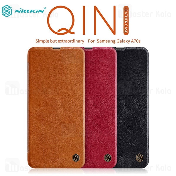 کیف چرمی نیلکین سامسونگ Samsung Galaxy A70s 2019 Nillkin Qin Leather Case