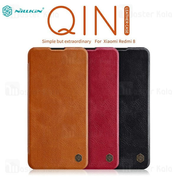 کیف چرمی نیلکین شیائومی Xiaomi Redmi 8 Nillkin Qin Leather Case