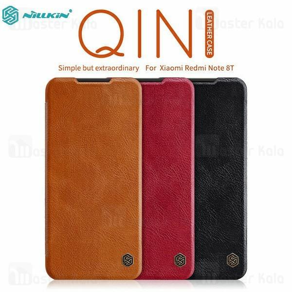 کیف چرمی نیلکین شیائومی Xiaomi Redmi Note 8T Nillkin Qin Leather Case