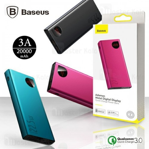 پاوربانک 20000 فست شارژ بیسوس Baseus Adaman Metal Digital Display QC3.0 PPIMDA-A0A