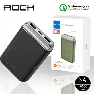 پاوربانک 10000 راک Rock RMP0405 P71 Mini PD Power Bank فست شارژ QC3.0