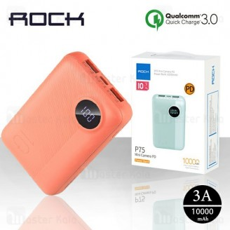 پاوربانک 10000 راک Rock RMP0408 P75 Mini Power Bank فست شارژ QC3.0