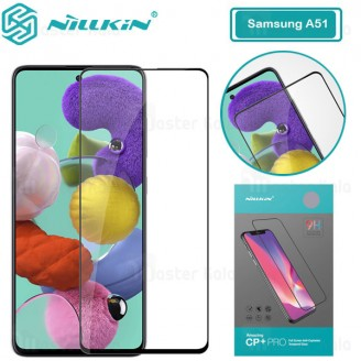 محافظ صفحه شیشه ای تمام صفحه تمام چسب سامسونگ Samsung Galaxy A51 Nillkin CP+ Pro