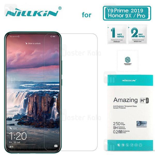 محافظ صفحه شیشه ای نیلکین هواوی Huawei Y9s / Y9 Prime 2019 / Honor 9x / 9x Pro Nillkin H+ Pro