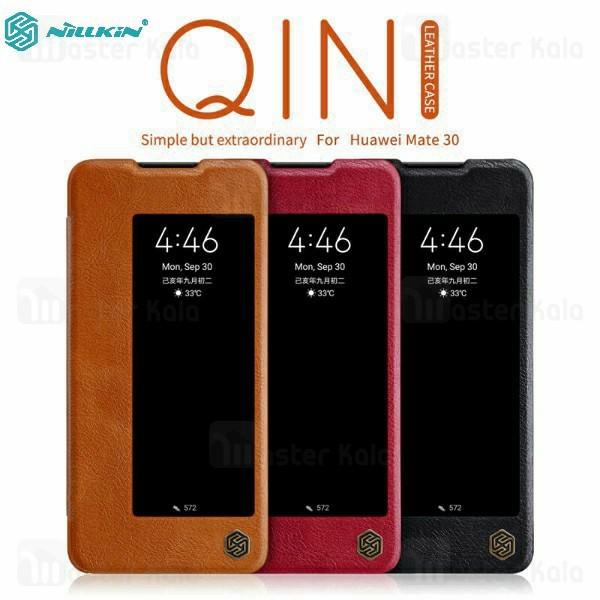 کیف چرمی هوشمند نیلکین هواوی Huawei Mate 30 Nillkin Qin Leather Case