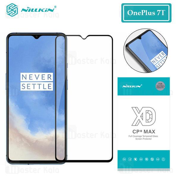 محافظ صفحه شیشه ای تمام صفحه تمام چسب نیلکین OnePlus 7T XD CP+ Max