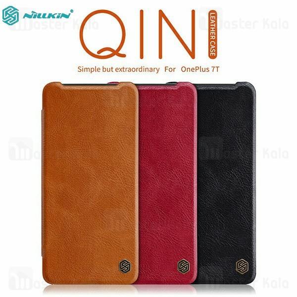 کیف چرمی نیلکین وان پلاس OnePlus 7T Nillkin Qin Leather Case