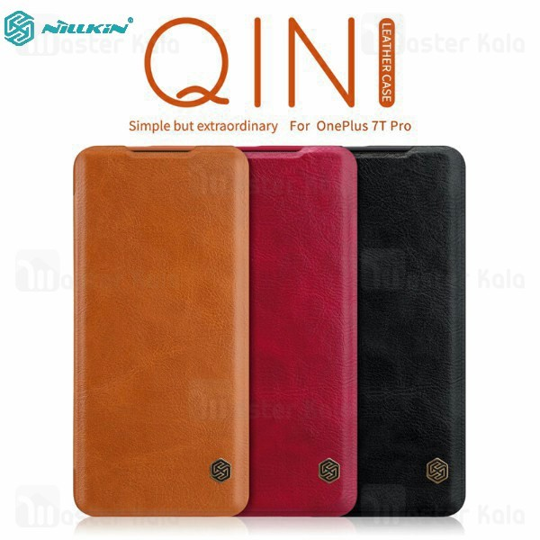 کیف چرمی نیلکین وان پلاس OnePlus 7T Pro Nillkin Qin Leather Case