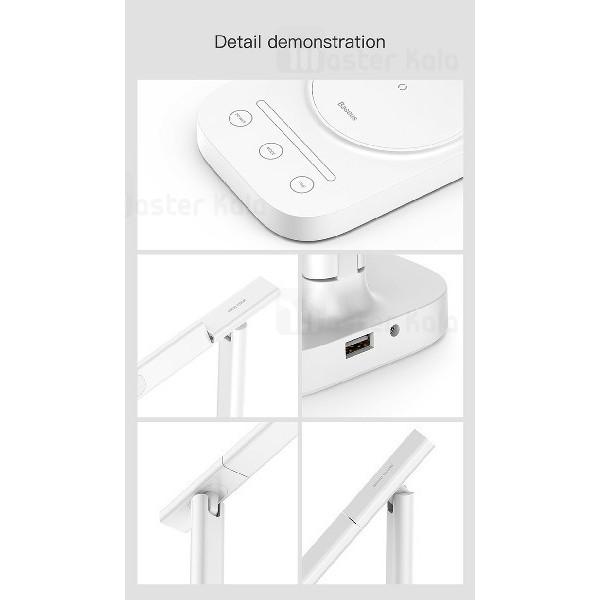 چراغ مطالعه و شارژر وایرلس بیسوس Baseus Lett Wireless Charging Folding Desk Lamp ACLT-B02