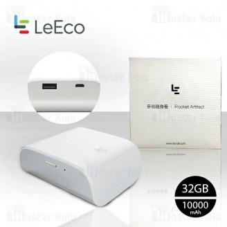 فلش وایرلس 32 گیگ و پاوربانک 10000 میلی آمپر لی اکو LeEco LeSLH601 Pocket Artifact