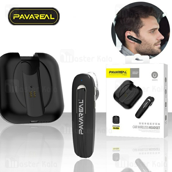 هندزفری بلوتوث تک گوش پاوارئال Pavareal PA-BT30 Wireless Headset دارای کیس شارژ