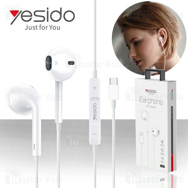 هندزفری سیمی طرح ایرپاد یسیدو Yesido YH27 Earphone با کانکتور Type-C