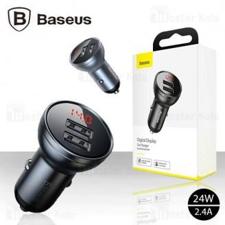 شارژر فندکی بیسوس Baseus Digital Display Car Charger CCBX-0G توان 24 وات