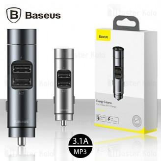 شارژر فندکی و پخش کننده بلوتوث بیسوس Baseus Energy Column CCNLZ-0S توان 3.1 آمپر