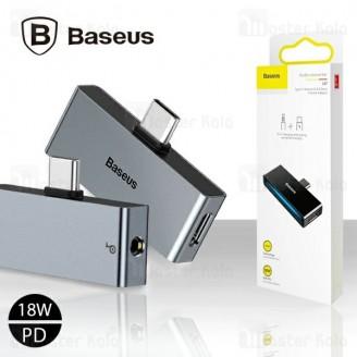 تبدیل تایپ سی اتصال همزمان هندزفری و شارژر بیسوس Baseus L57 2 in 1 Adapter CATL57-01