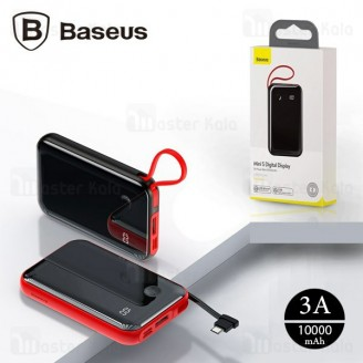 پاوربانک 10000 بیسوس Baseus Mini S Digital Power Bank PPXF-A01 کابل متصل Type-C