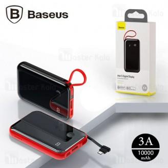پاوربانک 10000 بیسوس Baseus Mini S Digital Power Bank PPXF-A09 کابل متصل Type-C