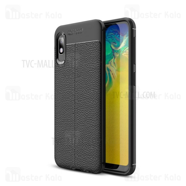 قاب محافظ ژله ای طرح چرم سامسونگ Samsung Galaxy A10e / A102 Auto Focus