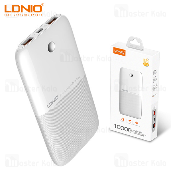 پاوربانک 10000 الدینیو LDNIO PW1009 Dual USB Power Bank توان 2.1 آمپر