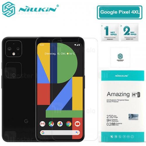 محافظ صفحه شیشه ای نیلکین گوگل Google Pixel 4 XL Nillkin H+ Pro + محافظ لنز
