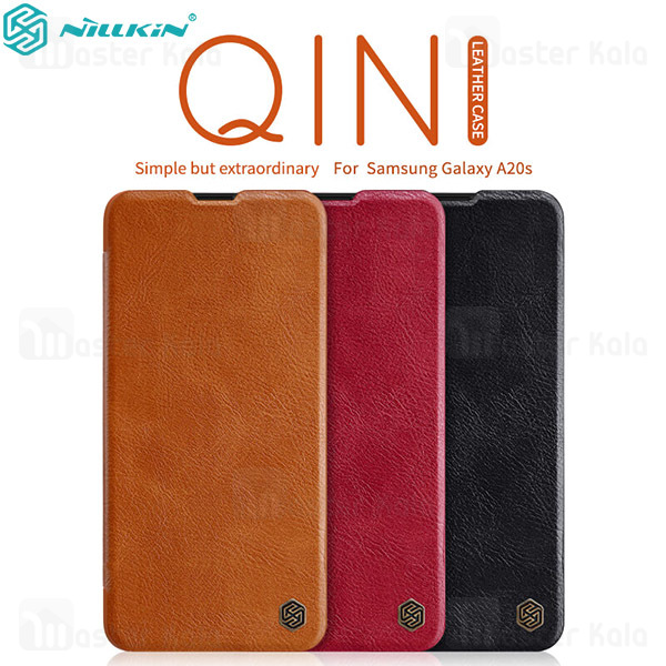 کیف چرمی نیلکین سامسونگ Samsung Galaxy A20s / A207 Nillkin Qin Leather Case