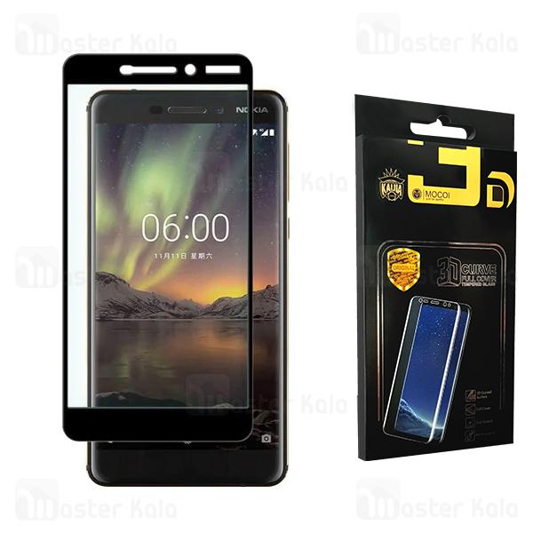 محافظ صفحه نانو سرامیک تمام صفحه و تمام چسب نوکیا Nokia 6.1 2018 Mocol Glass