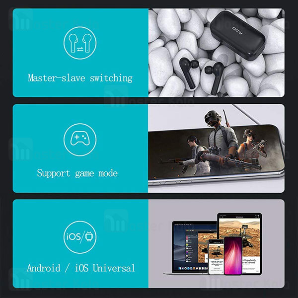 هندزفری بلوتوث دو گوش کیو سی وای QCY T5 CVC Game Mode Earbuds