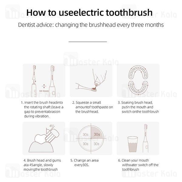 مسواک برقی هوشمند شیائومی Xiaomi Soocas X3 Electric Toothbrush IPX7