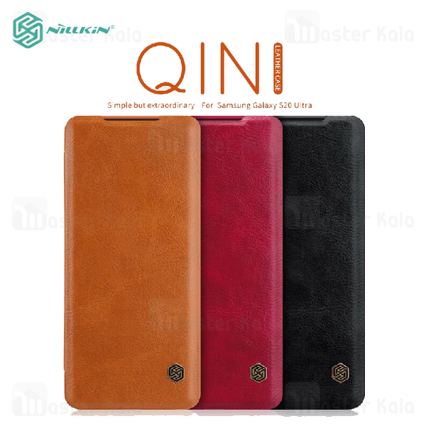 کیف چرمی نیلکین سامسونگ Samsung Galaxy S20 Ultra Nillkin Qin Leather Case