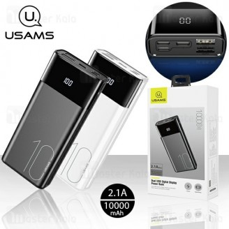 پاوربانک 10000 یوسمز Usams CD97 Dual USB Digital Display توان 2.1 آمپر