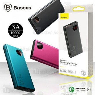 پاوربانک 10000 فست شارژ بیسوس Baseus Adaman Metal Digital Display QC3.0 PPIMDA-B0A