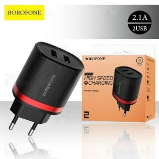 شارژر دیواری بروفون Borofone BA7A Dual USB Charger 2.1A دو پورت