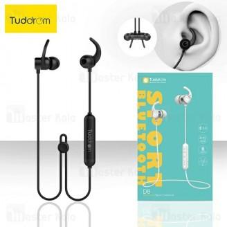 هندزفری بلوتوث تادروم Tuddrom D8 Bluetooth Earphone IPX5 طراحی مگنتی