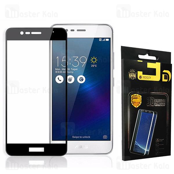 محافظ صفحه شیشه ای تمام صفحه دور چسب ایسوس Asus Zenfone 3 Max ZC520TL Mocol