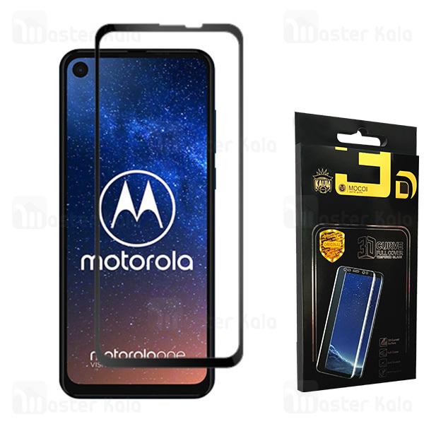 محافظ صفحه شیشه ای تمام صفحه تمام چسب موتورولا Motorola One Vision / One Action Mocol