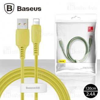کابل لایتنینگ بیسوس Baseus Coloful Data Cable CALDC-06 توان 2.4 آمپر