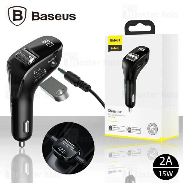 شارژر فندکی و پخش کننده بلوتوث بیسوس Baseus Streamer F40 MP3 Car Charger CCF40-01