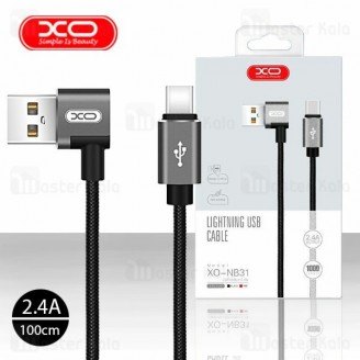 کابل Type C ایکس او XO NB31 Elbow Data Charging Cable توان 2.4 آمپر