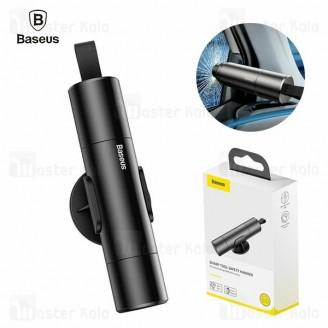 چکش اضطراری بیسوس Baseus Sharp Tool Safety Hammer CRSFH-0G دارای کاتر کمربند