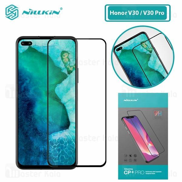محافظ صفحه شیشه ای تمام صفحه تمام چسب هواوی Huawei Honor V30 / V30 Pro Nillkin CP+ Pro