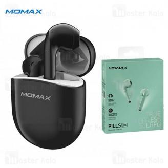 هندزفری بلوتوث دو تایی مومکس Momax Pills Lite B02 Bluetooth Earbuds به همراه داک شارژ
